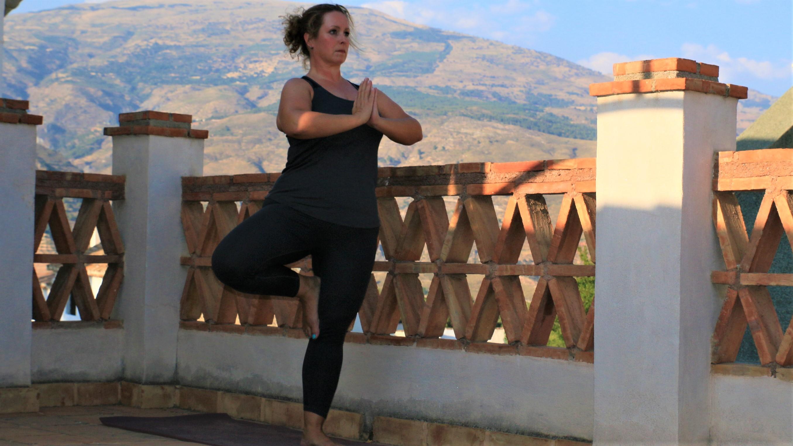 Yoga on roofterrace Casa del Patio